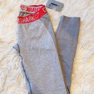 Gymshark Flex Leggings - Light Grey Marl/Sherbet